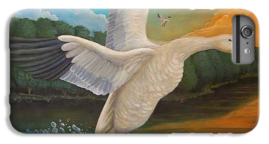 Rick Huotari IPhone 6s Plus Case featuring the painting The Landing by Rick Huotari