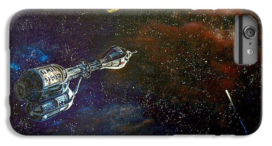 Vista Horizon IPhone 6s Plus Case featuring the painting The Search For Earth by Murphy Elliott