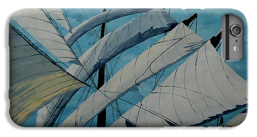 Sails IPhone 6s Plus Case featuring the painting The Tower Of Power by Anthony Dunphy