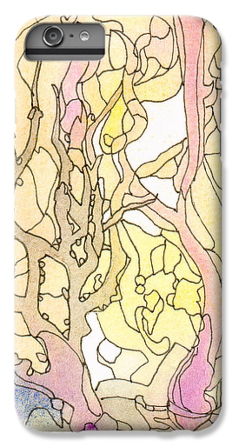 Landscape IPhone 6s Plus Case featuring the painting Trees In The Morning by Christina Rahm Galanis