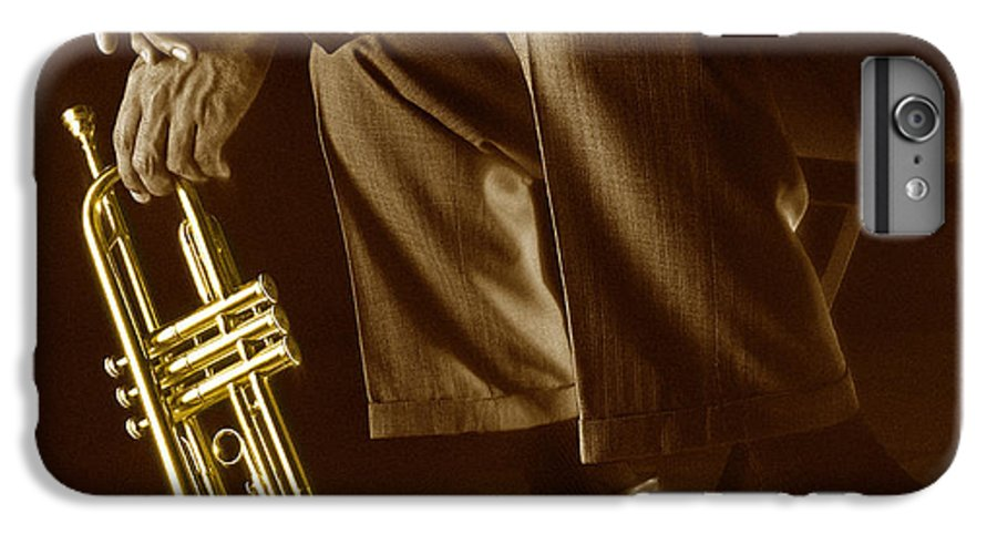 Trumpet IPhone 6s Plus Case featuring the photograph Trumpet 2 by Tony Cordoza