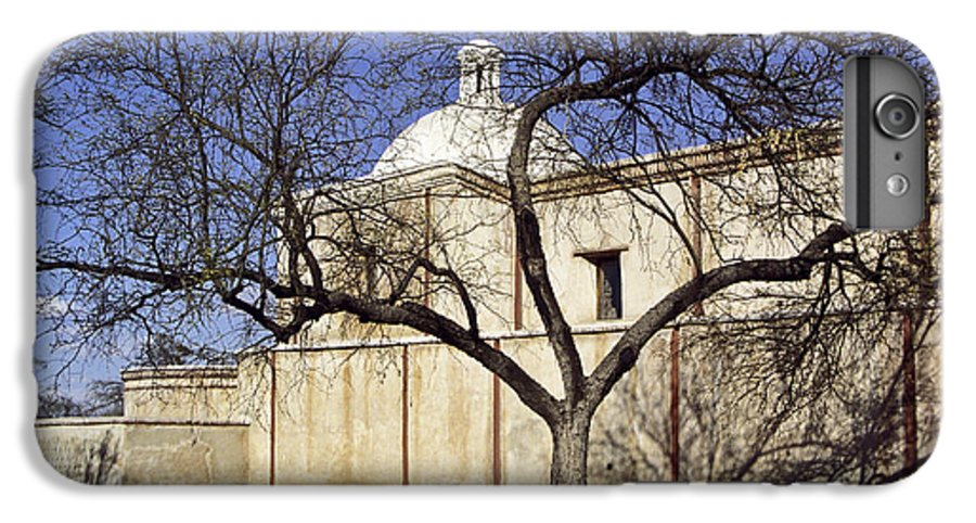 Mission IPhone 6s Plus Case featuring the photograph Tumacacori With Tree by Kathy McClure
