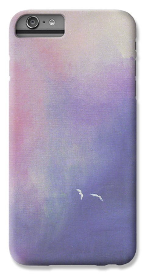 Sky IPhone 6s Plus Case featuring the painting Two Birds Flying In Ravine. by Christina Rahm Galanis