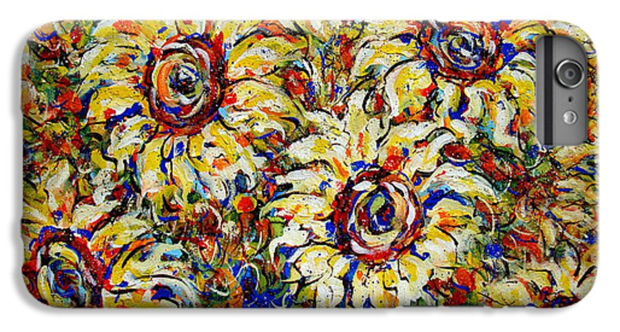 Flowers IPhone 6s Plus Case featuring the painting Vibrant Sunflower Essence by Natalie Holland