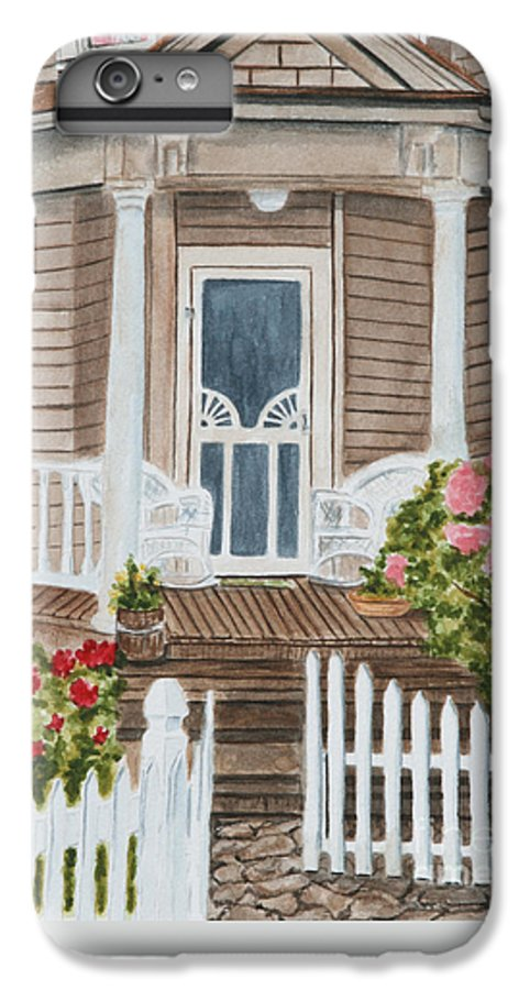 Architecture IPhone 6s Plus Case featuring the painting Welcome by Regan J Smith