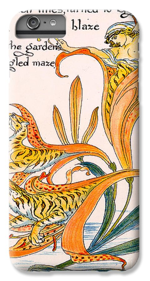 Illustration IPhone 6s Plus Case featuring the painting When Lilies Turned To Tiger Blaze by Walter Crane