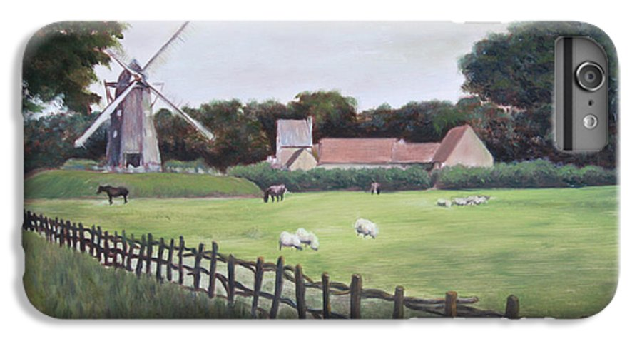 Farm IPhone 6s Plus Case featuring the painting Windmill On Farm by Jennifer Lycke