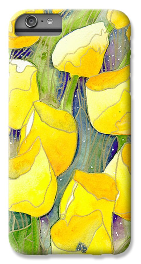 Yellow Tulips IPhone 6s Plus Case featuring the painting Yellow Tulips 2 by Christina Rahm Galanis