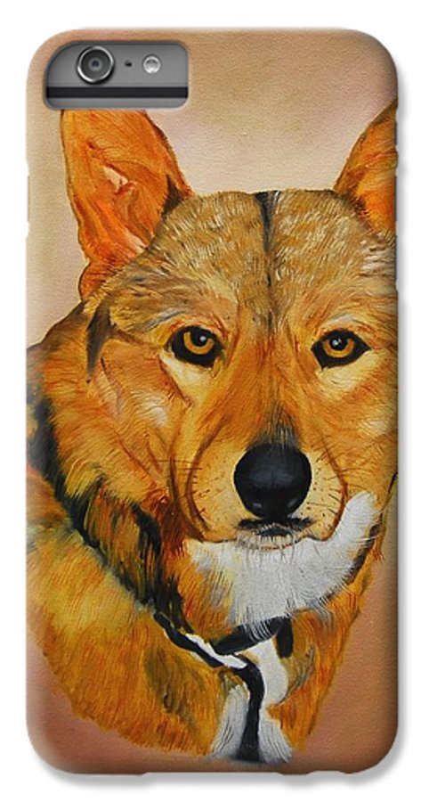 Animals IPhone 6s Plus Case featuring the painting Zavious by Quwatha Valentine