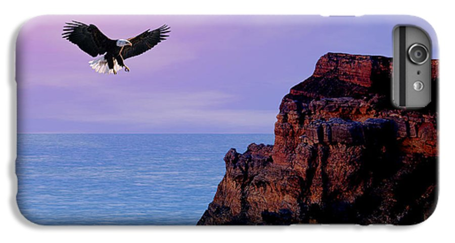 Eagle IPhone 6s Plus Case featuring the digital art I'm Free To Fly by Evelyn Patrick