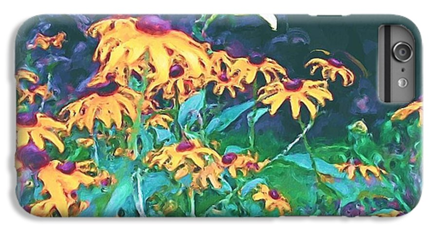 Mixed Media IPhone 6s Plus Case featuring the painting A Lily In The Field by Patricia Griffin Brett