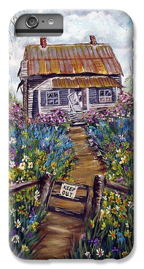 House IPhone 6s Plus Case featuring the painting Abandoned House by Quwatha Valentine