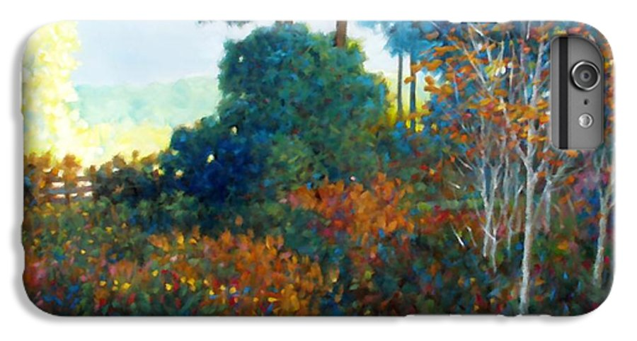 Landscape IPhone 6s Plus Case featuring the painting Back Gate by Kevin Lawrence Leveque