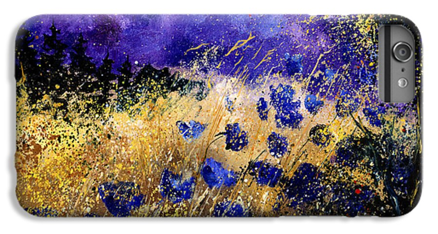 Poppies IPhone 6s Plus Case featuring the painting Blue Cornflowers by Pol Ledent