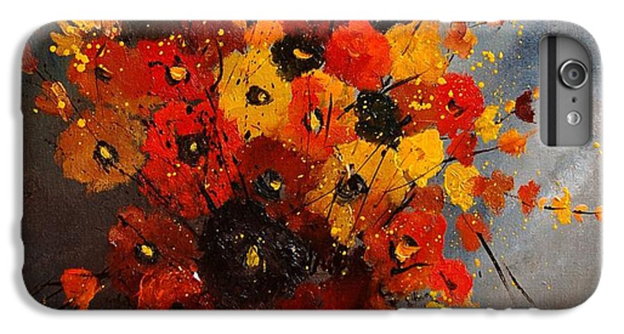 Flowers IPhone 6s Plus Case featuring the painting Bunch 0708 by Pol Ledent