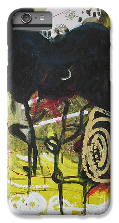 Abstract Paintings IPhone 6s Plus Case featuring the painting Crescent2 by Seon-Jeong Kim