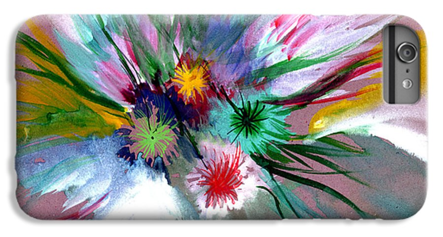 Flowers IPhone 6s Plus Case featuring the painting Flowers by Anil Nene