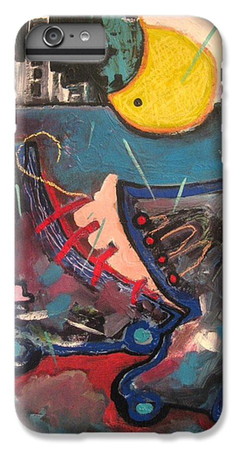 Abstract Paintings IPhone 6s Plus Case featuring the painting Forgotten Days by Seon-Jeong Kim