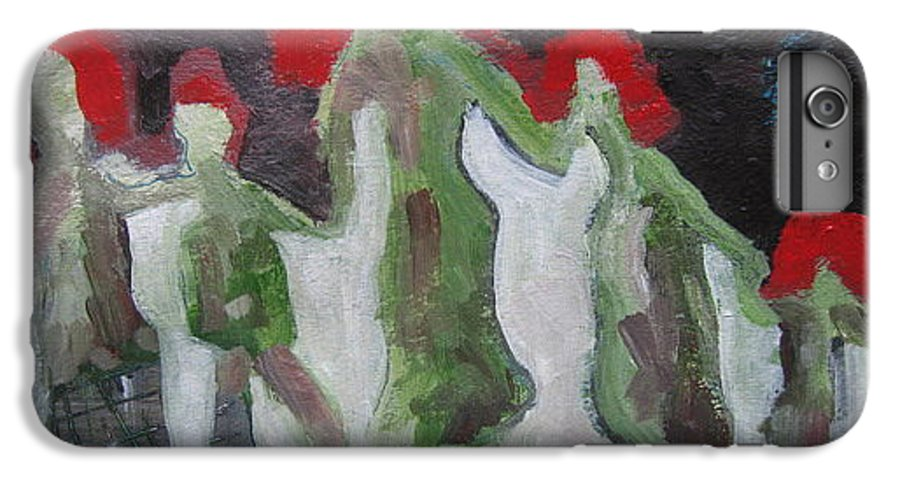 Abstract Paintings IPhone 6s Plus Case featuring the painting Holding Hands by Seon-Jeong Kim