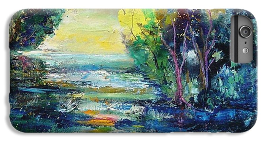 Pond IPhone 6s Plus Case featuring the painting Magic Pond by Pol Ledent
