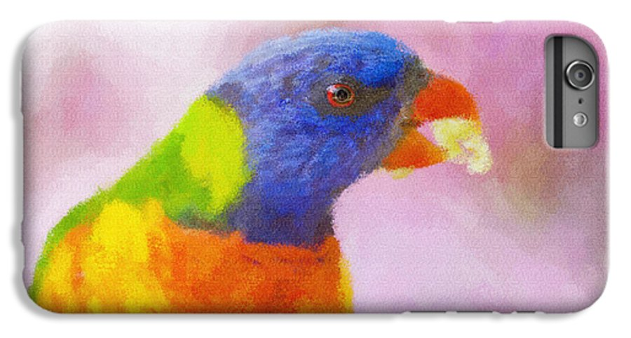 Rainbow Lorikeet IPhone 6s Plus Case featuring the photograph Rainbow Lorikeet by Sheila Smart Fine Art Photography