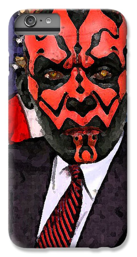 Star Wars IPhone 6s Plus Case featuring the digital art Senator Darth Maul by Eric Forster