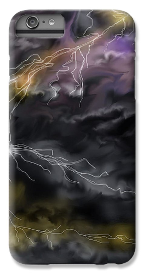Seascape IPhone 6s Plus Case featuring the painting Shock And Awe by Anne Norskog