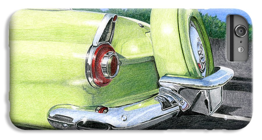 Classic IPhone 6s Plus Case featuring the drawing 1956 Ford Thunderbird by Rob De Vries