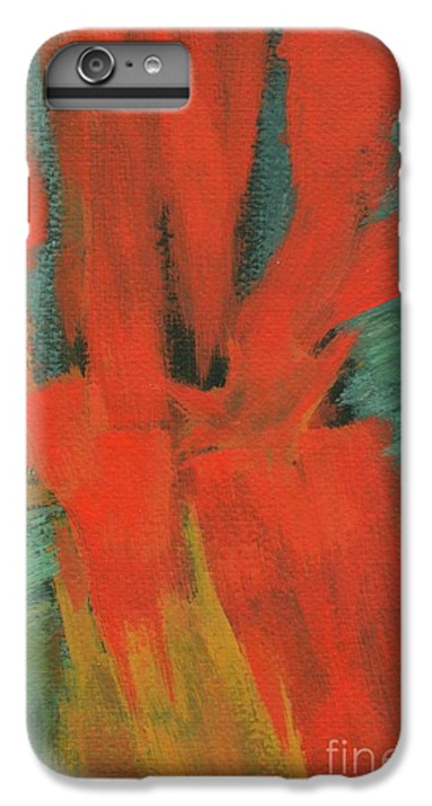 Abstract IPhone 6s Plus Case featuring the painting A Moment In Time by Itaya Lightbourne