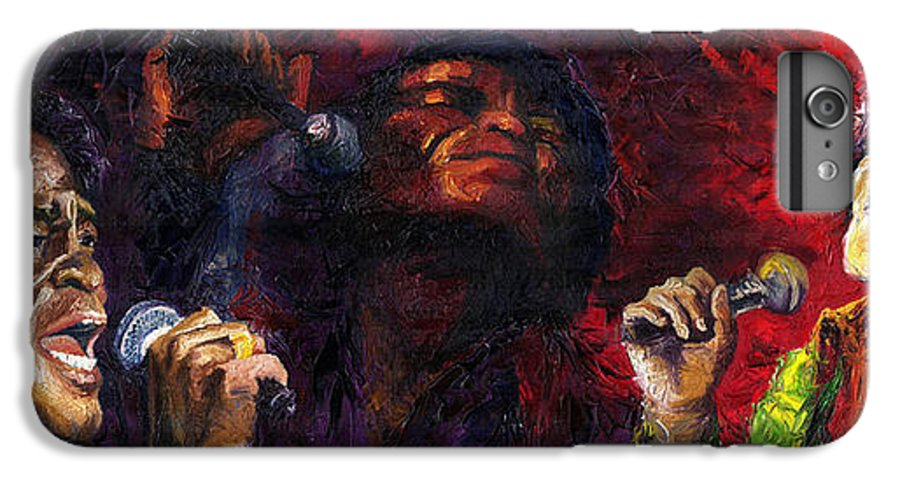 Jazz IPhone 6s Plus Case featuring the painting Jazz James Brown by Yuriy Shevchuk