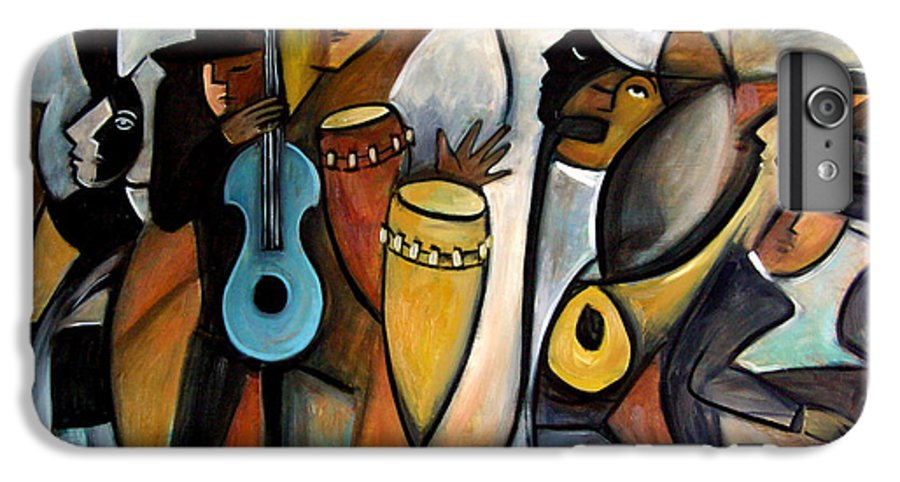 Latin Jazz Musicians IPhone 6s Plus Case featuring the painting Jazzz by Valerie Vescovi