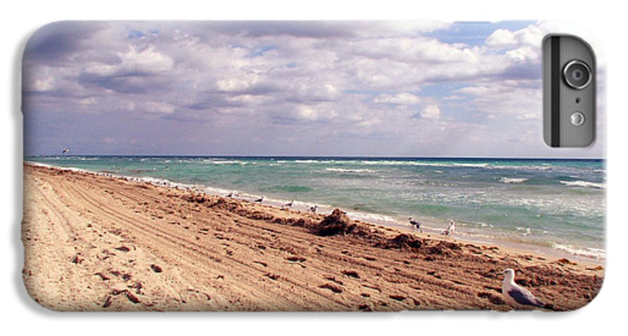 Beaches IPhone 6s Plus Case featuring the photograph Miami Beach by Amanda Barcon