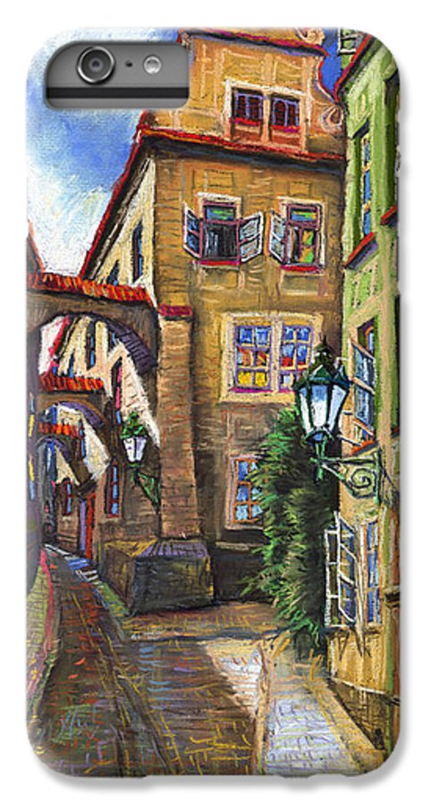 Prague IPhone 6s Plus Case featuring the painting Prague Old Street by Yuriy Shevchuk
