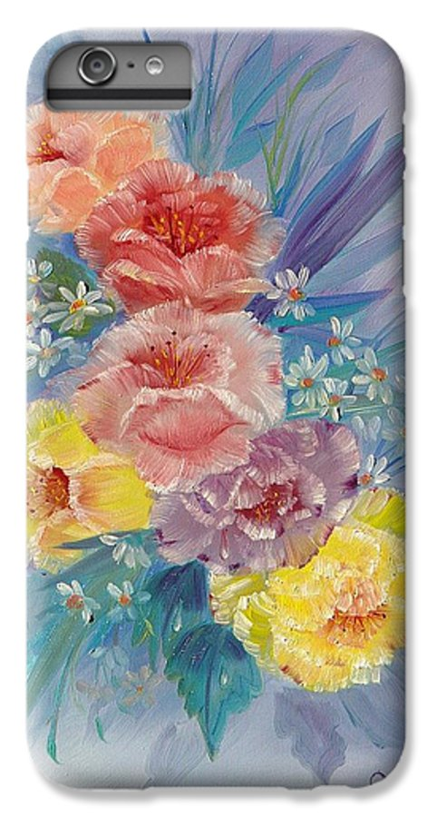 Roses IPhone 6s Plus Case featuring the painting Roses by Quwatha Valentine