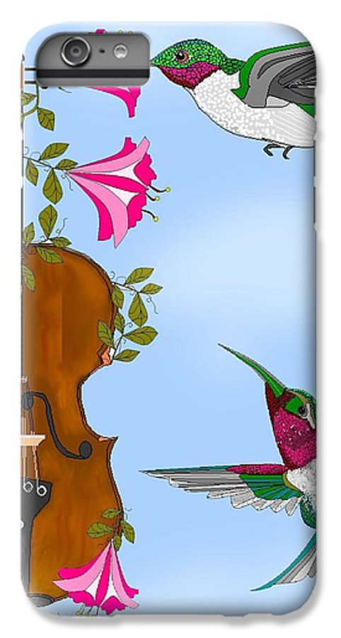 Fantasy IPhone 6s Plus Case featuring the painting Singing The Song Of Life by Anne Norskog