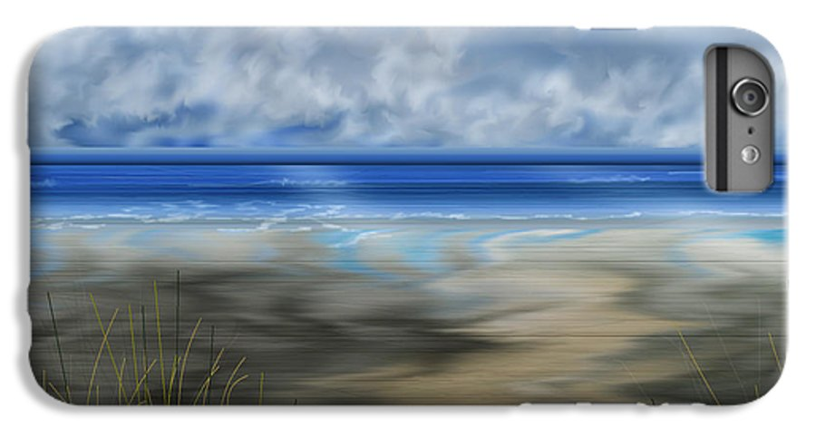 Anne Norskog IPhone 6s Plus Case featuring the painting The Road Less Travelled by Anne Norskog