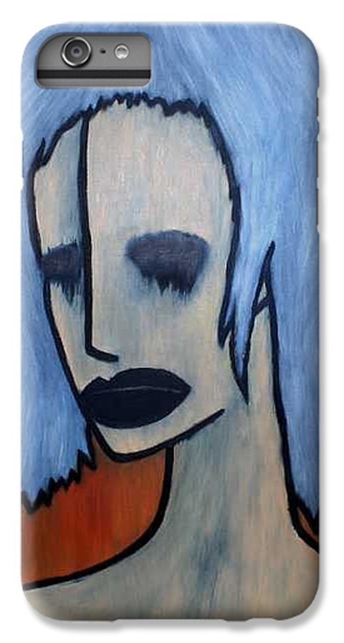 Potrait IPhone 6s Plus Case featuring the painting Halloween by Thomas Valentine
