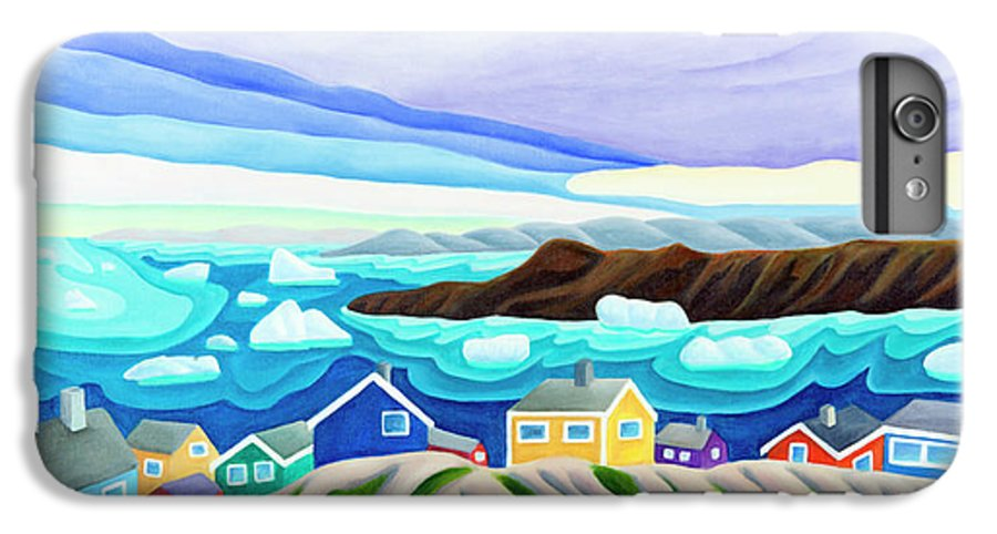 Arctic Landscape. Greenland IPhone 6s Plus Case featuring the painting 69 Degrees 13 Minutes North by Lynn Soehner