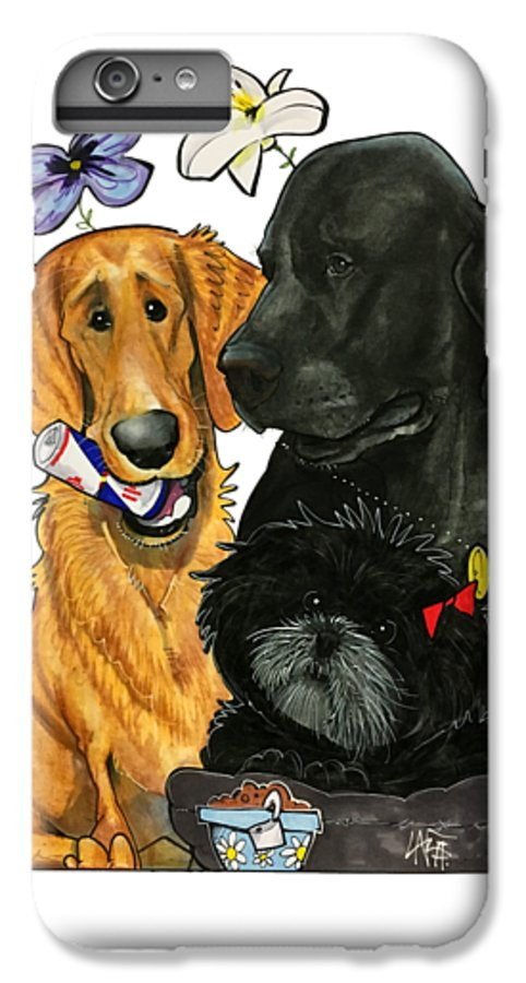 Pet Portrait IPhone 6s Plus Case featuring the drawing 7-1396 Scallon by John LaFree