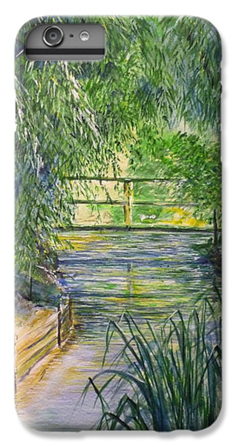 Giverny IPhone 6s Plus Case featuring the painting A Day At Giverny by Lizzy Forrester