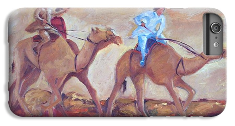 Figurative IPhone 6s Plus Case featuring the painting A Day At The Camel Races by Ginger Concepcion