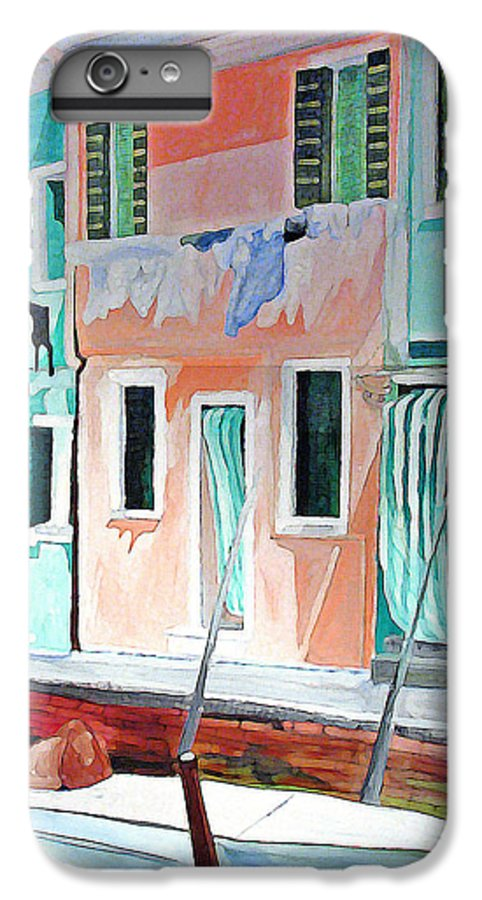 Italy IPhone 6s Plus Case featuring the painting A Day In Burrano by Patricia Arroyo