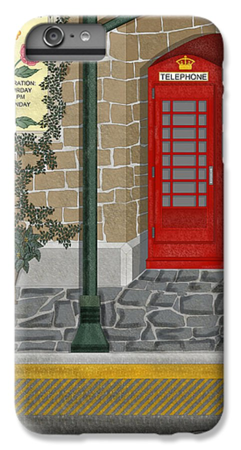 Cityscape IPhone 6s Plus Case featuring the painting A Merry Old Corner In London by Anne Norskog