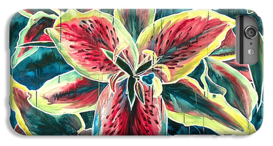 Floral Painting IPhone 6s Plus Case featuring the painting A New Day by Jennifer McDuffie