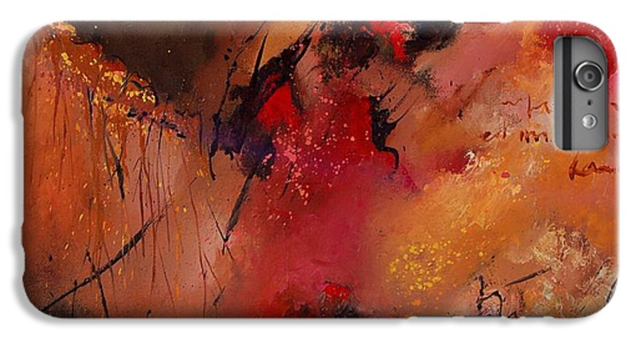 Abstract IPhone 6s Plus Case featuring the painting Abstract 0408 by Pol Ledent