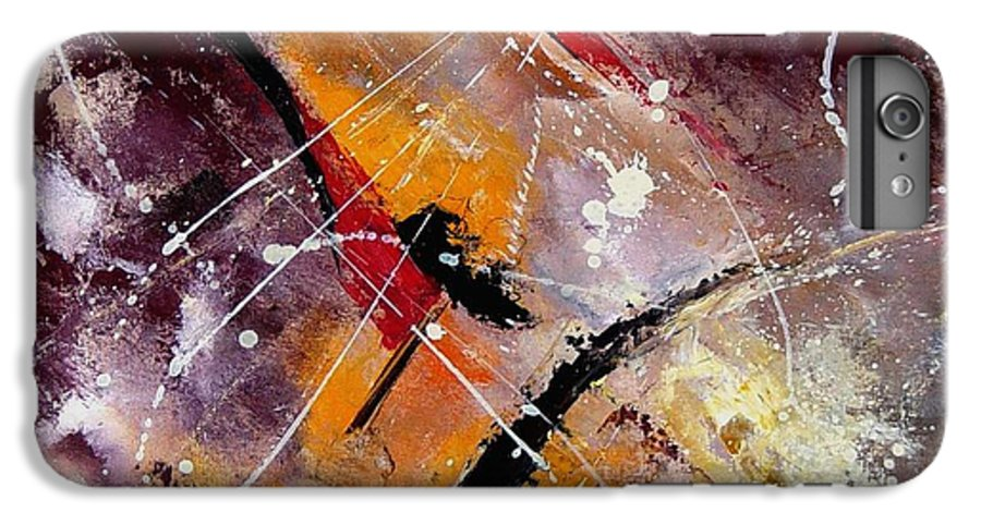 Abstract IPhone 6s Plus Case featuring the painting Abstract 45 by Pol Ledent