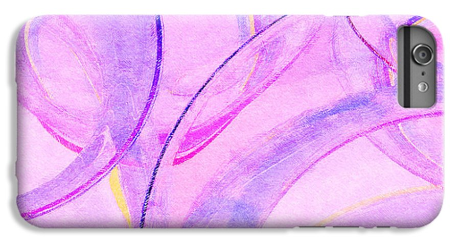 Glass IPhone 6s Plus Case featuring the painting Abstract Number 20 by Peter J Sucy