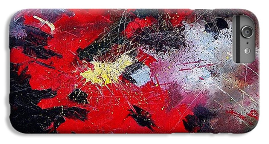 Abstract IPhone 6s Plus Case featuring the painting Abstract070406 by Pol Ledent