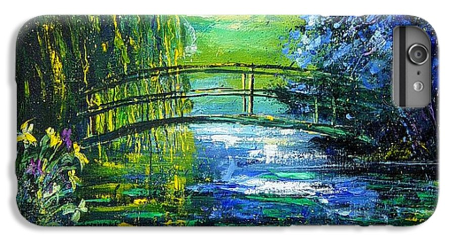 Pond IPhone 6s Plus Case featuring the painting After Monet by Pol Ledent