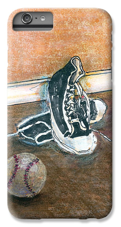 Tennis Shoes IPhone 6s Plus Case featuring the mixed media After The Game by Arline Wagner